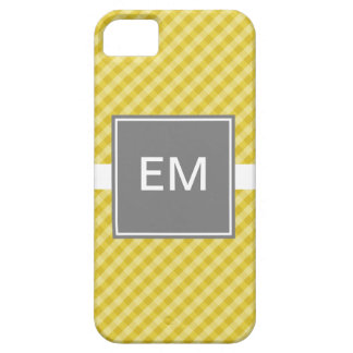 Classic Gingham Gold with Gray iPhone 5 ID Case