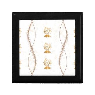 Classic Gold Flowers Trees Keepsake Box
