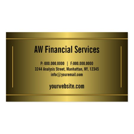Black and Gold  Framed Border Professional Accountant Business Cards