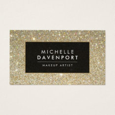 Classic Gold Glitter Makeup Artist Business Card at Zazzle