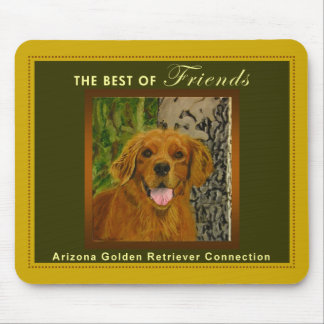 Classic Gold & Olive Golden Retriever Mousepad