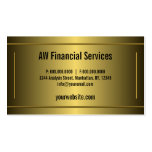 Classic Gold Professional Accountant Business Card Business Cards