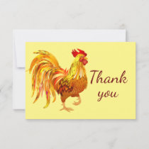 Classic Gold Rooster Chicken Farm  Thank You