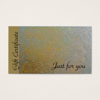 Classic Gold Silver Metal Look | Gift Certificate