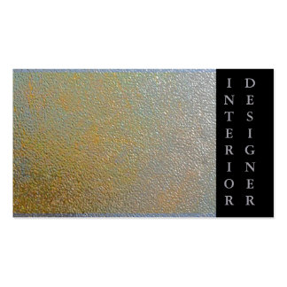 Classic Gold Silver Shiny Stamped Metal Effect Business Cards