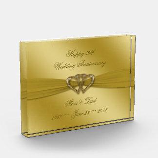 Classic Golden 50th Wedding Anniversary Award