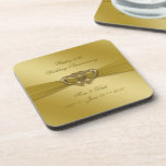 Classic Golden 50th Wedding Anniversary Coasters