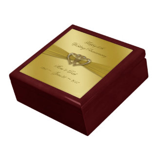 Classic Golden 50th Wedding Anniversary Gift Box