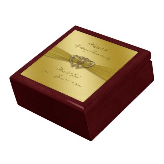 50th Wedding Anniversary Gift Etiquette: Classic Golden 50th Wedding Anniversary Gift Box