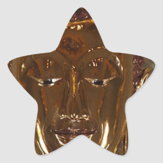 CLASSIC GOLDEN BUDDHA STAR STICKER