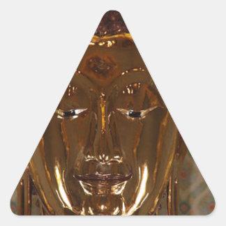 CLASSIC GOLDEN BUDDHA TRIANGLE STICKER