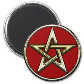 Classic Golden Pentagram 2 Magnet