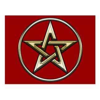 Classic Golden Pentagram 2 Postcard