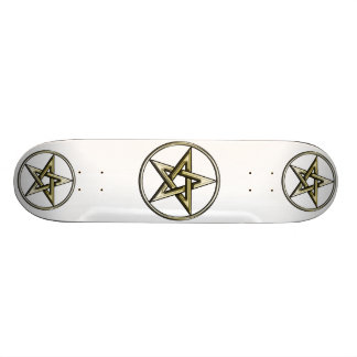 Classic Golden Pentagram 2 Skateboard