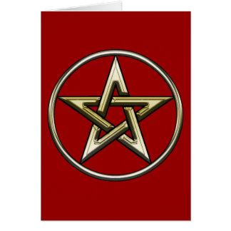 Classic Golden Pentagram Card