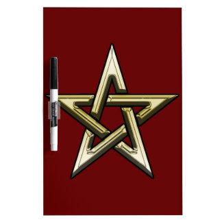 Classic Golden Pentagram Dry Erase Board