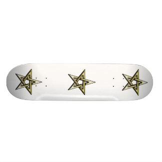 Classic Golden Pentagram Skateboard