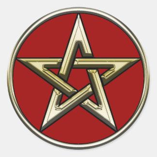 Classic Golden Pentagram Sticker