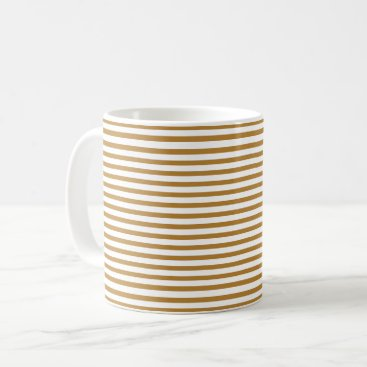 Classic Golden Pinstripe Coffee Mug