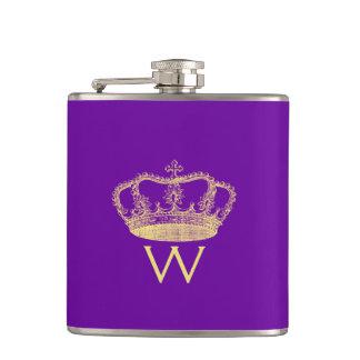 Classic Golden Princess Crown Flask