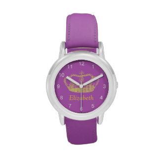 Classic Golden Princess Crown Wrist Watch