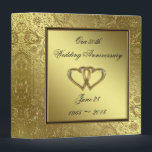 """Classic Golden Wedding Anniversary 1.5&quot; Binder<br><div class=""""desc"""">A Digitalbcon Images Design featuring a Gold and Black and Gold Flourish Frame design theme with a variety of custom images, shapes, patterns, styles and fonts in this one-of-a-kind &quot;Golden Wedding Anniversary&quot; 1.5&quot; Binder. This elegant and attractive design comes with customizable text lettering on the front AND the back and...</div>"""