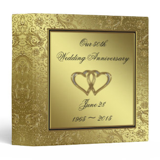"Classic Golden Wedding Anniversary 1.5"" Binder"