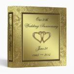 "Classic Golden Wedding Anniversary 1"" Binder"