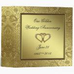 "Classic Golden Wedding Anniversary 2"" Binder"