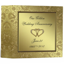 "Classic Golden Wedding Anniversary 2"" Binder"