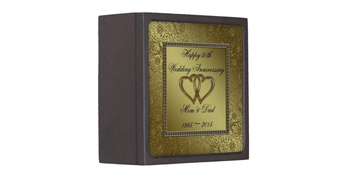 Golden Wedding Gift Box : Classic Golden Wedding Anniversary Gift Box Zazzle