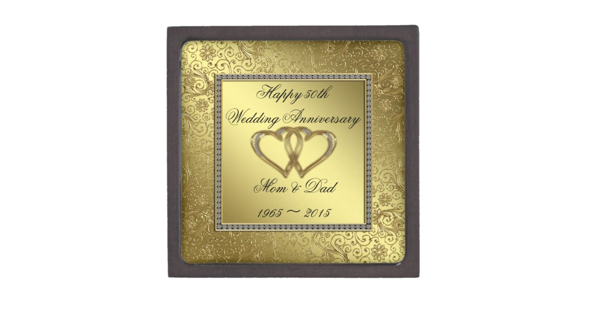 Classic Golden Wedding Anniversary Gift Box Zazzle