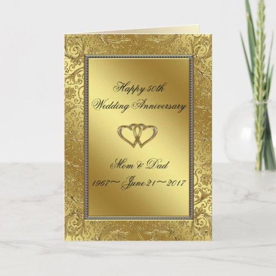Classic golden wedding anniversary greeting card zazzle classic golden wedding anniversary greeting card m4hsunfo
