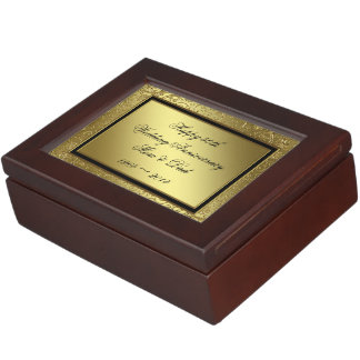 Classic Golden Wedding Anniversary Keepsake Box