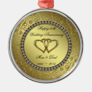 Classic Golden Wedding Anniversary Ornament