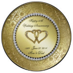 Classic Golden Wedding Anniversary Porcelain Plate at Zazzle