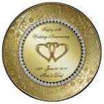 Classic Golden Wedding Anniversary Porcelain Plate
