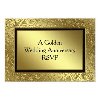 Classic Golden Wedding Anniversary RSVP Card