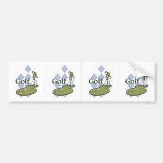 Classic Golf Bumper Sticker