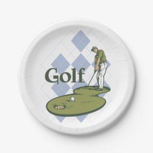 Classic Golf Paper Plate  sc 1 st  Zazzle & Golf Club Plates | Zazzle