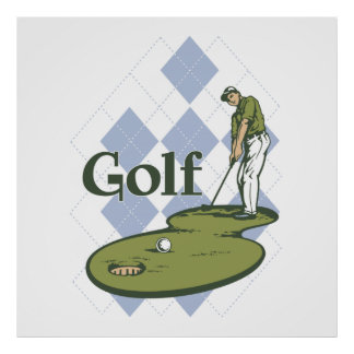 Classic Golf Poster