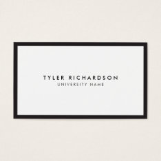 Classic Graduate Student Business Card at Zazzle