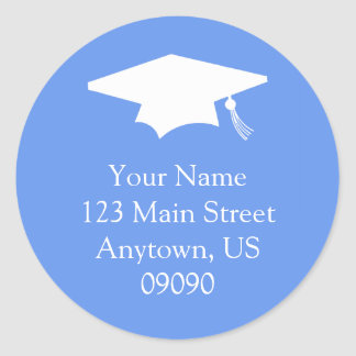 Classic Graduation Address Label (Cornflower Blue)