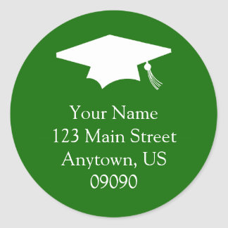 Classic Graduation Address Label (Green)