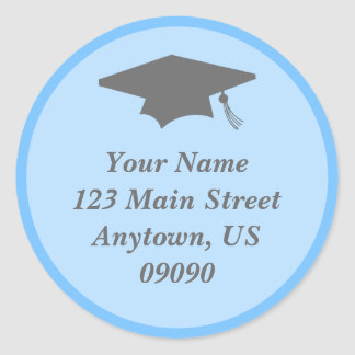 Classic Graduation Address Label (Light Blue)