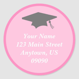 Classic Graduation Address Label (Light Pink)
