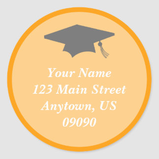 Classic Graduation Address Label (Orange)