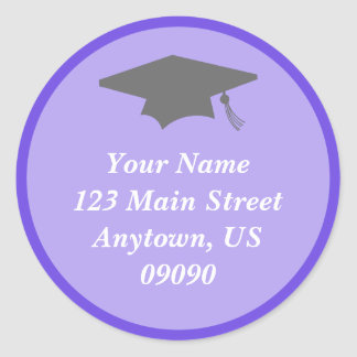 Classic Graduation Address Label (Purple)