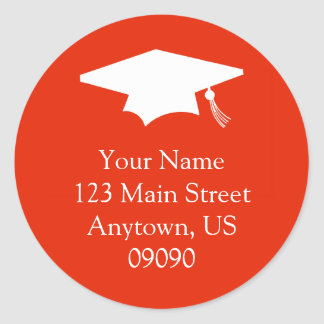 Classic Graduation Address Label (Red)