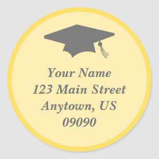 Classic Graduation Address Label (Yellow)